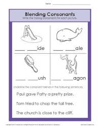 A printable worksheet designed to teach beginning blends bl. Consonant Blends Worksheets Phonics