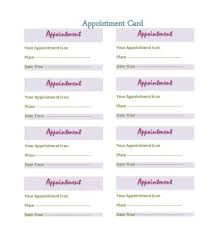 cards templates 40 appointment cards templates appointment reminders