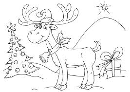 Small Picture 5 Christmas Reindeer Coloring Pages Merry Christmas