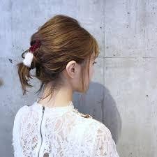 毛量髪の毛が少ない人向けへアアレンジお団子まとめ髪アップ