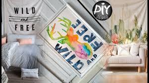 diy room decor tumblr inspired easy wall art youtube