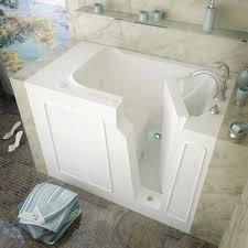 meditub 52 w x 29 d white dual massage walk in bathtub
