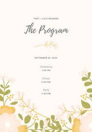 Customize 66 Wedding Program Templates Online Canva