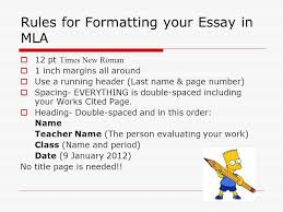 mla citations format of paper parenthetical citations works cited  rules for formatting your essay in mla