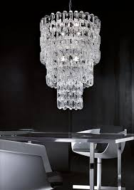 modern ceiling suspension light with clear hand blown murano glass in the form of open chain links the distinctive concept of linking chain offer the final