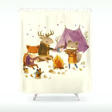 camping shower curtain critters fall camping shower curtain camping world rv shower curtain camping shower curtain