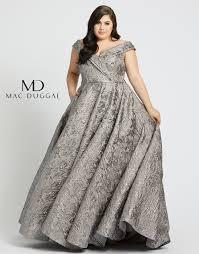 Mac Duggal 77677f Off The Shoulder Plus Size Formal Dress