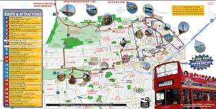 maps update  map of san francisco tourist attractions