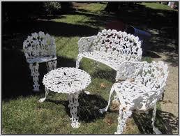 Antique White Wrought Iron Patio Furniture Patios Home