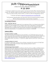 Cover Letter Experienced Resume Examples Experienced Resume