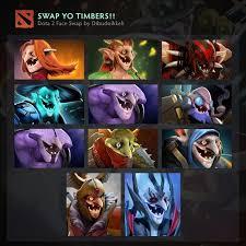 timbersaw face swap dota2