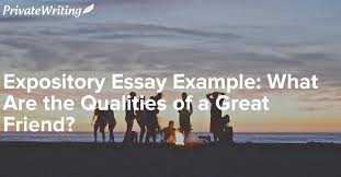 expository essay example what are the qualities of a great friend