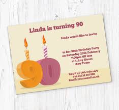 90 Birthday Party Invitations 90th Candle Birthday Party Invitations