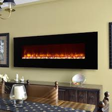 image of wall electric fireplace a center