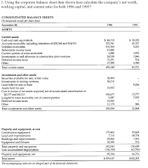Company S Net Worth Solved 1 Using The Corporate Balance Sheet Data Shown He