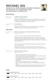 Customer Service Officer Resume Samples Visualcv Resume Samples