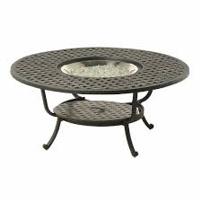 newport 48 round gas fire pit table