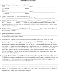 sample rental agreement letter tenancy agreement format