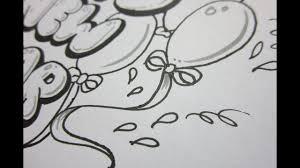 write happy new year draw balloons ribbon and stars