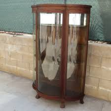antique curio cabinet with curved glass home design ideasna lines curved curio cabinet antique glass