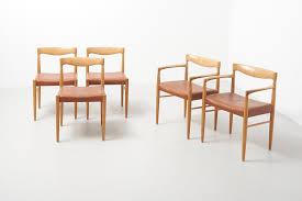 Dänische Esszimmerstühle Aus Leder Eiche Von Hw Klein Für Bramin 1960er 5er Set