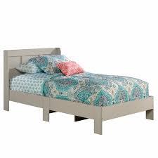 Twin platform bed frame Zinus Sauder Parklane Twin Platform Bed With Headboard Cobblestone Walmartcom Walmart Sauder Parklane Twin Platform Bed With Headboard Cobblestone
