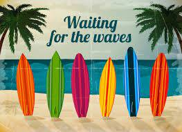 waiting for waves surf wall mural wallpaper