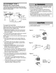 adjustment program the travel limits adjustment step 1 chamberlain 248754 user manual page 28 44