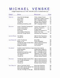 Musical Theatre Resume Theater Resume Template Musical Theatre Word Bra Google Docs 18