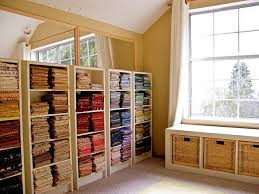 145 best Quilting Room: Fabric Storage images on Pinterest ... & pretty color organized fabric! Living Room WindowsQuilting ... Adamdwight.com