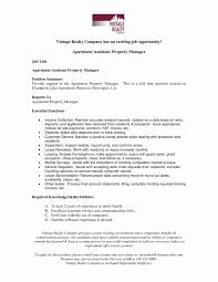 Property Manager Cover Letter New Property Management Job
