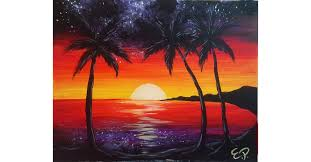 paradise painting at wine and canvas wine and canvas las vegas las vegas 28 august