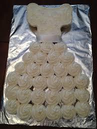 A Wedding Dress Cupcake Cake La Hoot Bakery
