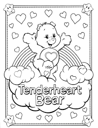 Small Picture Care Bear Coloring Pages Care Bear Coloring Pages To Download And