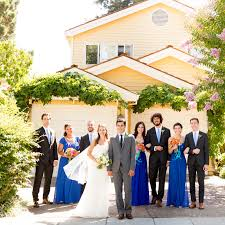 from the bride s family home in palo alto the band led the wedding party on the streetcar to garden court hotel