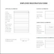 Employee Emergency Contact Information Template Employee Information Sheet Template
