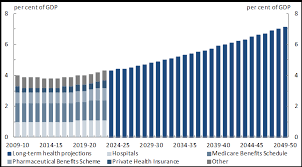 this chart shows expenditure on private health insurance the care benefits schedule hospitals