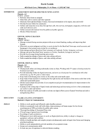 Editor News Resume Samples Velvet Jobs