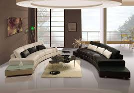 Leather Couch Living Room Furniture Perfect Curve Black White Modern Leather Sofa Living