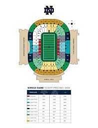 Notre Dame Stadium Detailed Seating Chart Notre Dames Public Sale Of Single Game Football Tickets