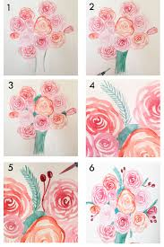 an easy way to paint rose blooms with