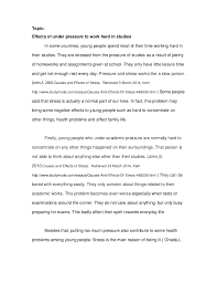 english full essay topic effects of under pressure to work hard in studies in some countries