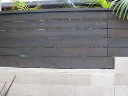 white horizontal wood fence. Horizontal Wood Fence Landscape Contemporary With Palms Sandblasted. Image By: Debora Carl Design White