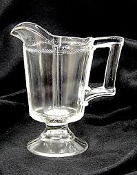 antique cord band panels creamer 1880s eapg small clear glass pitcher