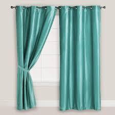 Teal Living Room Curtains Orange Curtains Window Treatments Walmart Com Mainstays Calix Teal
