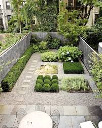 Small yard landscaping ideas. Small garden design with stone patio and  outdoor seating area