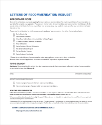 Letter Of Recommendation Request From Employer Excel124