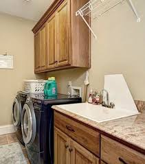 countertop over front load washer dryer laundry room jpg