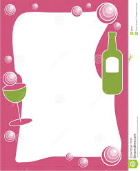 Party Borders For Invitations Party Drinks Border Stock Vector Illustration Of Parties