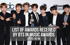 Bts Gaon Chart Kpop Awards 2017 List Of Awards Received By Bts In Music Awards 2013 2018